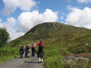Walking the Foxford Way in County Mayo Ireland